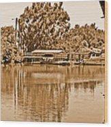 A Forgotten Delta Marina Wood Print