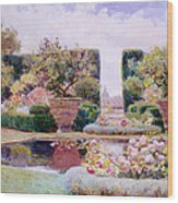 A Formal Garden In Rome Wood Print