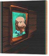 A Friend - Off The Wall Series - # 2 Wood Print