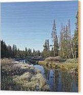 A Frosty Morning Along Obsidian Creek Wood Print