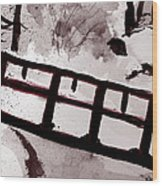 A Frozen River Wood Print by Shelley Bain