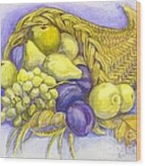 A Fruitful Horn Of Plenty Wood Print