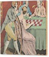 A Gambling Hell Wood Print