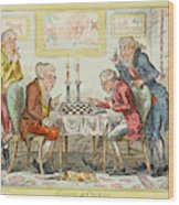 A Game Of Chess -  Two Wigged Gentlemen Wood Print