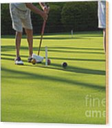 A Game Of Croquet Wood Print