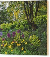 A Garden Of Color Wood Print