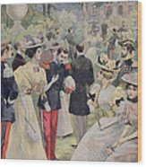 A Garden Party At The Elysee Wood Print