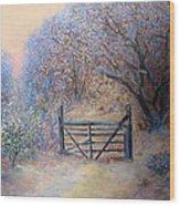 A Gate Wood Print