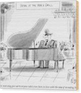 A General Plays Piano At A Bar Wood Print