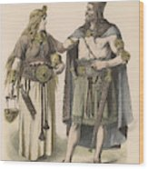 A German Man And Woman Of The  Bronze Wood Print