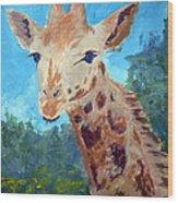 A Giraffe For Ori Wood Print