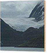 A Glacier Receding - II Wood Print