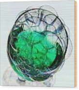 A Glass Of Bubbly Wood Print