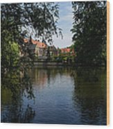 A Glimpse Through The Trees - Bruges Belgium Wood Print