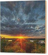 A Glorious Minneapolis Sunset Wood Print