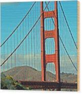 A Golden Gate View Wood Print