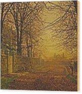 A Golden Shower Wood Print