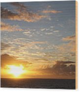 A Golden Sunrise - Singer Island Wood Print