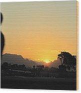 A Golden Sunset  Wood Print