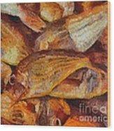 A Good Catch Of Fish Wood Print