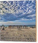 a good morning from Jerusalem beach  Wood Print
