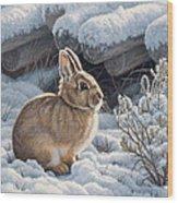 A Good Place - Bunny Wood Print