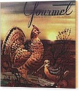 A Gourmet Cover Of A Turkey Wood Print