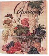 A Gourmet Cover Of Grapes Wood Print