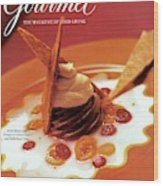 A Gourmet Cover Of Moch Mousse Wood Print