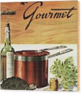 A Gourmet Cover Of Turtle Soup Ingredients Wood Print