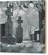 A Graveyard Wood Print