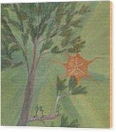 A Great Tree Grows Wood Print by Robert Meszaros