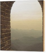 A Great View Of China Wood Print