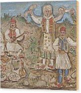 A Greek Feast Wood Print