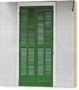 A Green Door In New Orleans Wood Print