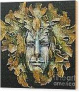A Green Man Wood Print