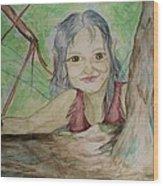 A Greenie Wood Print