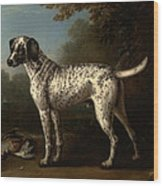A Grey Spotted Hound Wood Print