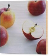 A Group Of Apples Wood Print
