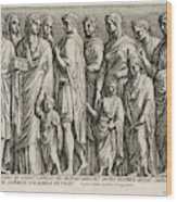 A Group Of Roman Citizens Wood Print