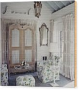 A Guest Room At Hickory Hill Wood Print
