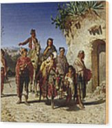 A Gypsy Family On The Road, C.1861 Oil On Canvas Wood Print