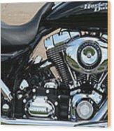 A Harley In Arlington Wood Print