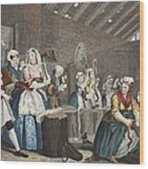 A Harlots Progress, Plate Lv Scene Wood Print