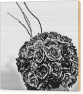 A Hat Of Roses Wood Print