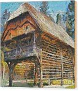 A Hayrack  Wood Print
