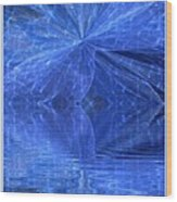 A Healing In Blue Living Waters Wood Print