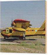 A Hellenic Air Force Canadair Cl-215 Wood Print