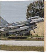 A Hellenic Air Force F-16d Block 52+ Wood Print