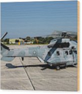 A Hellenic Air Force Super Puma Search Wood Print